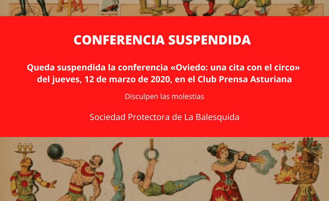 Conferencia suspendida Oviedo
